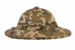 Khaki pith helmet Royalty Free Stock Photos