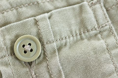 Khaki pocket with button Royalty Free Stock Photos