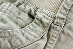 Khaki pocket with details Royalty Free Stock Images