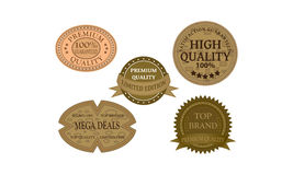 Khaki promotion badges Royalty Free Stock Photography