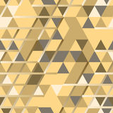 Khaki seamless pattern with triangular protection ornament and l Royalty Free Stock Photos