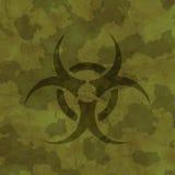 Khaki texture with biohazard sign Royalty Free Stock Image