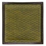 Khaki wicker frame isolated Royalty Free Stock Images