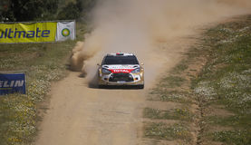 Khalid Al Qassimi in Rally de Portugal 2013 Royalty Free Stock Photo