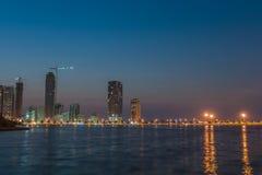 Khalid Lake i Sharjah Royaltyfria Foton