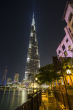 Khalifa di Burj, il più alta costruzione nel mondo Immagini Stock