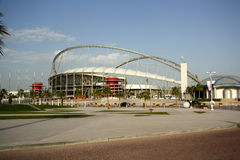 Khalifa International Stadium em Doha, Catar fotografia de stock
