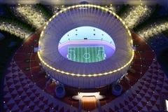 Khalifa International Stadium modell, Qatar royaltyfri bild