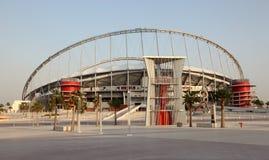 Khalifa stadion i Doha, Qatar arkivfoto