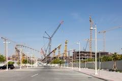 Khalifa Stadium under renovation in Doha, Qatar Royalty Free Stock Images