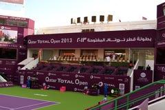 Khalifa Stadium VIP zone. DOHA-QATAR: FEBRUARY 11: VIP Stage of Tennis Court Khalifa Stadium of Qatar Total Open on February 11, 2013 in Doha, Qatar. The hosted Stock Photos