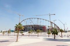 Khalifa stadium w Doha pod odświeżaniem Obraz Royalty Free