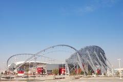 khalifa utanför stadion royaltyfri bild