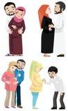 Khaliji-Paare, die ein Baby erwarten Lizenzfreie Stockfotografie
