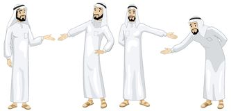 Khaliji Welcoming Men Stock Images