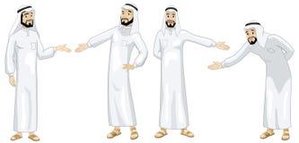 Khaliji Welcoming Men Stock Images