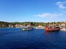 Khalkidiki da viagem do barco imagens de stock