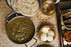 Khalo dal - подготовка чечевицы от Индии Стоковое фото RF