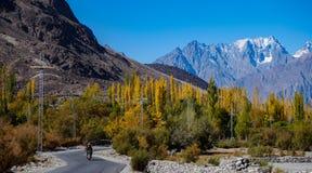 khalti jeziorny gahkuch Gilgit baltistan Obraz Stock