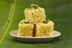 Khaman Dhokala Stock Photo