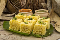 Khaman Dhokala Royalty Free Stock Images