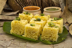 Khaman Dhokala Royalty Free Stock Photos