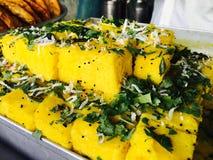 Khaman Dhokla immagine stock libera da diritti