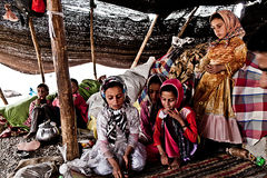 Khamsheh nomad tribe Stock Photography
