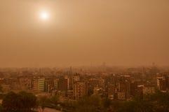Khamsin在开罗 库存图片