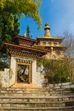 Entrance to the Khamsum Yuley Namgyal Chorten, Punakha, Bhutan royalty free stock photos