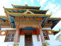 Khamsum Yulley Namgyal Choten, Bhutan. Khamsum Yulley Namgyal Choten stupa is in the Punakha district, Bhutan. It was built with the intention of bringing peace stock photos
