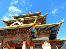 Khamsum Yulley Namgyal Choten, Bhutan. Khamsum Yulley Namgyal Choten stupa is in the Punakha district, Bhutan. It was built with the intention of bringing peace stock photography