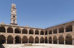Khan al Umdan Caravanserai van de Pijlers stock foto's