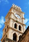 Khan al-Umdan Clock Tower, Acre stock afbeeldingen