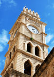 Khan al-Umdan Clock Tower, Acre Stock Images