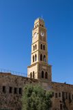 Khan al-Umdan Clock Tower in Old City, Acre, Israel Royalty Free Stock Images