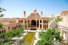Khan-e Borujerdi historisches altes Haus, Kashan, der Iran Lizenzfreies Stockbild