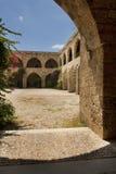 Khan el-Franj in Saida, Lebanon. Interior of inner yard of Khan el-Franj, french caravanserai in downtown of Saida, Lebanon royalty free stock photo