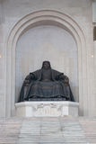 khan genghis statua obrazy royalty free