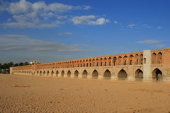 khan POL γεφυρών 33 Αλλάχ verdi του Ιράν  Στοκ Εικόνες