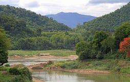 Khan rzeka prawie Luang Prabang obrazy royalty free