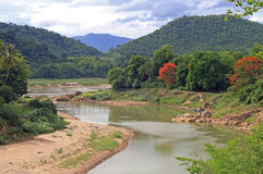 Khan rzeka prawie Luang Prabang zdjęcie royalty free