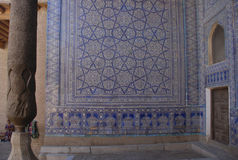 Khan's Palace Kurinishhana (Korinishxona) in the fortress Kunya-Ark in Khiva stock photos