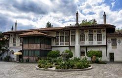 Khan& x27; s-slott i Bakhchisarai härliga crimea som den placerar till ukraine royaltyfria foton
