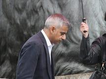 Khan Sadiq, Londen, het UK 16 Oktober, 2016 De Burgemeester van het Festival van Londen van de uitvoerders en de scènes van Dewal Royalty-vrije Stock Fotografie