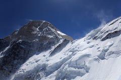 Khan Tengri峰顶, Tian掸人m的北部表面 库存照片