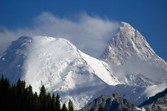 Khan Tengri. And Bayankol peaks Royalty Free Stock Image