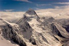 Khan Tengri peak. North face of Khan Tengri peak (7010m) in Central Tien Shan, Kazakhstan Stock Image