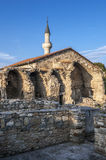Khan Uzbek Mosque and the ruins of a building adjacent to it ma Royalty Free Stock Image