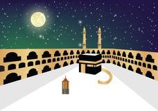 Khana e Kaba el centro de la fe stock de ilustración